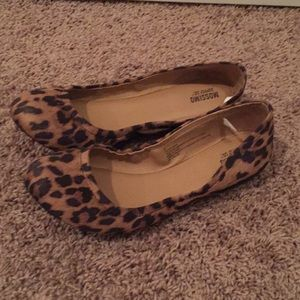 Mossimo Supply Co leopard flats NWOT